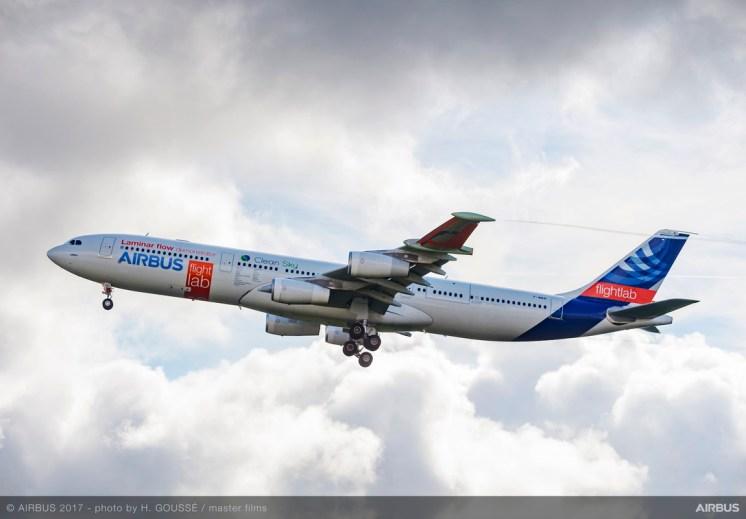 A340-laminar-flow-BLADE-demonstrator-first-flight-1-