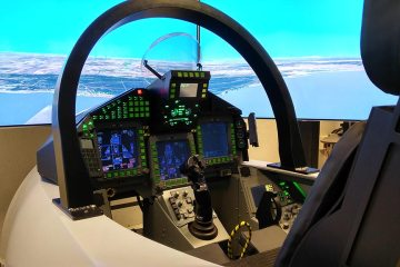 Indra simulatore di volo Eurofighter