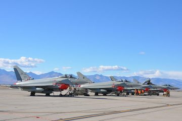 Blazing Shield 2018 China Lake Eurofighter italiani