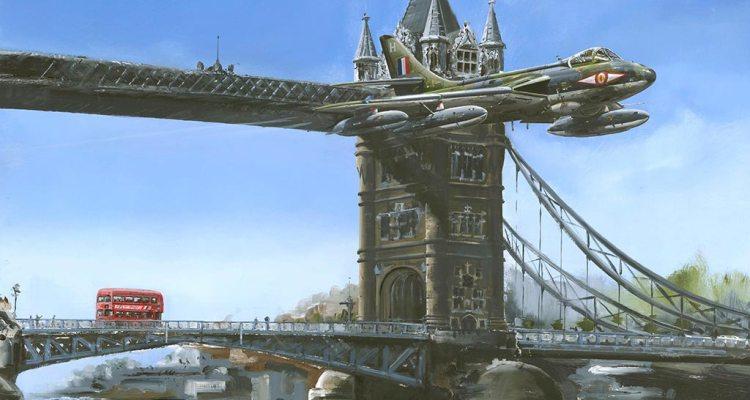Hawker Hunter Tower Bridge London