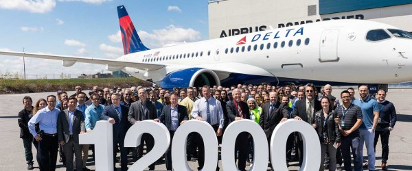12000 Airbus A220-100 Delta Airlines