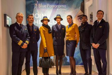 blue panorama airlines equipaggio