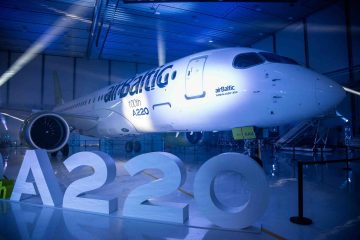 100° Airbus A220