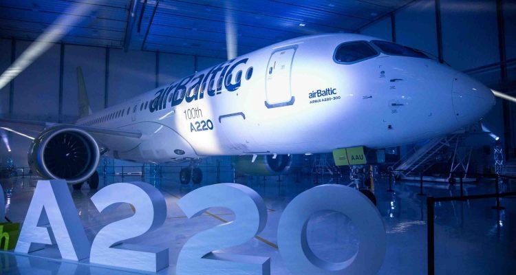 100° Airbus A220