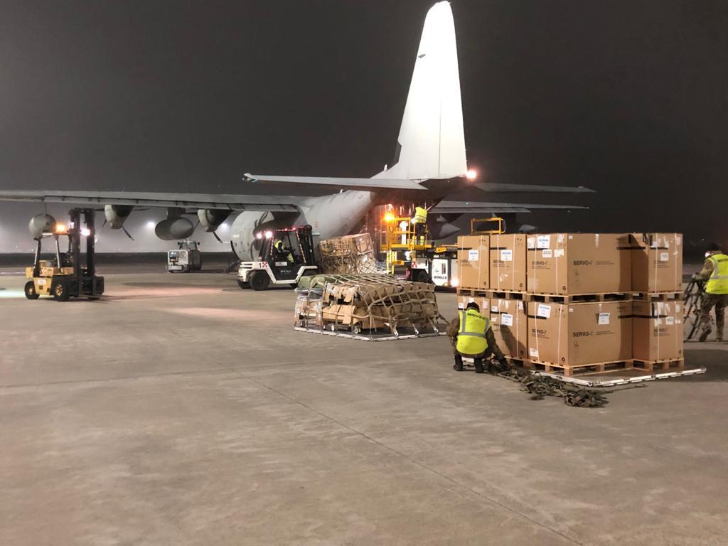 AM C-130J trasporta materiale sanitario coronavirus