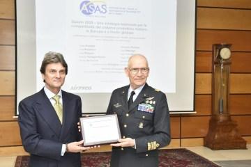 AM riceve il premio Space Economy 2020