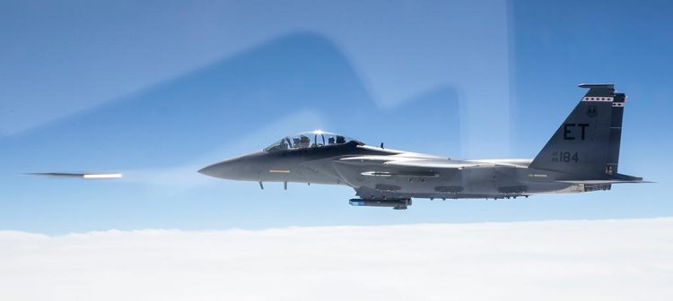 USAF F-15E Strike Eagle missile AMRAAM