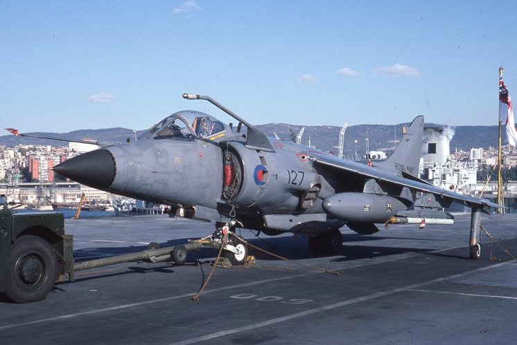 Sea Harrier FRS1 ZE693 HMS Invincible at Trieste