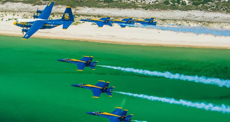 US Navy C130J Fat Albert Blue Angels