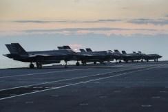 F35-B fighter jets have arrived on HMS Queen Elizabeth