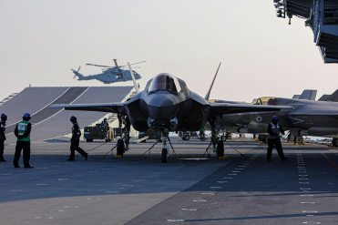 F35-B fighter jets have arrived on HMS Queen Elizabeth