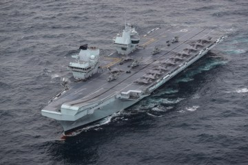 UK Carrier Strike Group assembles for the first time