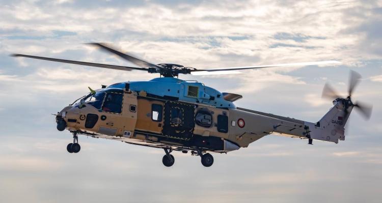 Leonardo NH90 NFH Qatar primo volo