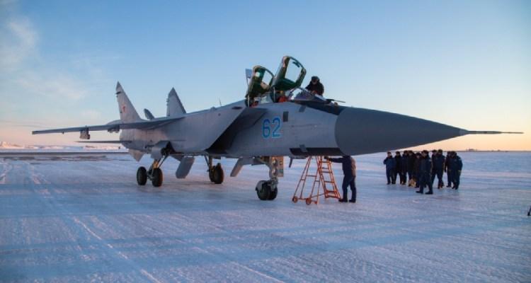 MiG-31BM Foxhound russo in artico