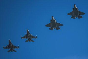 F16 americani e F-35A italian