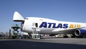 Atlas Air Cargo Boeing 747 engine stall on take-off Liège
