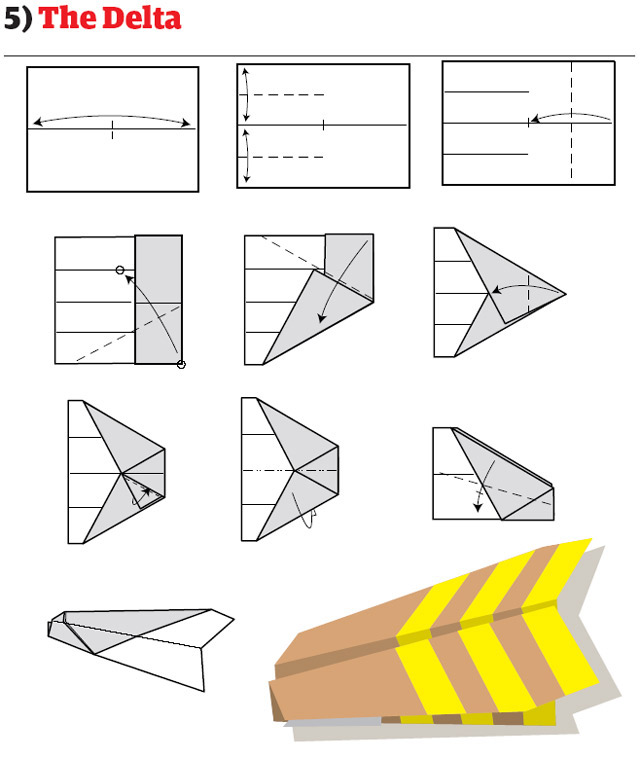 paper airplane diagram of parts skin system airplanes how to fold and create that fly easily delta design