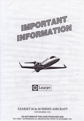 AIRLINE SAFETY CARDS FROM AIRLINES WORLDWIDE