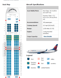 Delta boeing seating map also airlines aircraft seatmaps airline maps and layouts rh aviationexplorer