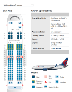 Delta chart also airlines aircraft seatmaps airline seating maps and layouts rh aviationexplorer