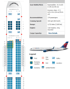 Delta er seating chart also airlines aircraft seatmaps airline maps and layouts rh aviationexplorer