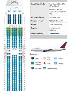 Delta also airlines aircraft seatmaps airline seating maps and layouts rh aviationexplorer