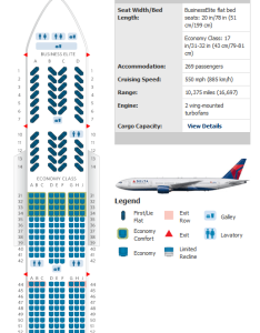 Delta er also airlines aircraft seatmaps airline seating maps and layouts rh aviationexplorer