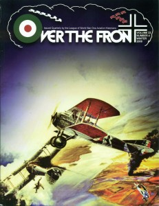Cover art from Over the Front Jouranal