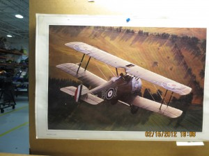 Inspiration comes from image of Sopwith Camel posted on aviation career school hangar wall