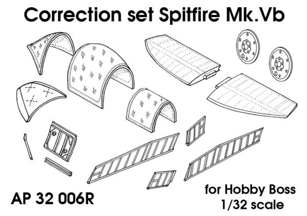 Spitfire MKVb Correction set (Hobby Boss