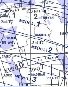 High and low altitude enroute chart middle east me   also rh aviationmegastore