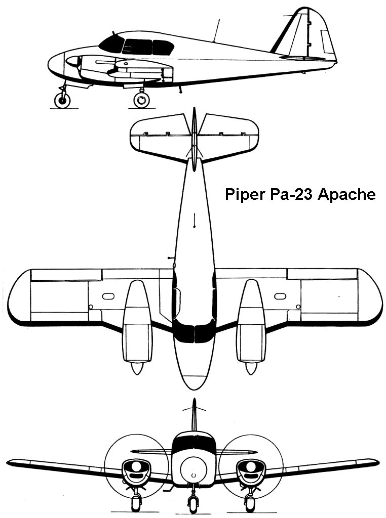 AviationsMilitaires.net — Piper PA-23 Apache