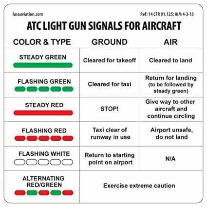 air traffic control light signals