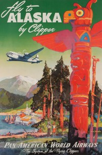 Vintage posters of American airline companies ...