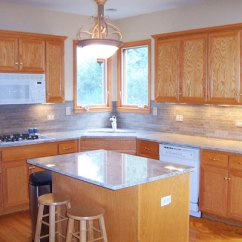 Kitchen Updates Sink Soap And Sponge Holder Downers Grove Update Dupage County Area Decorating Counter Tile After 1aft