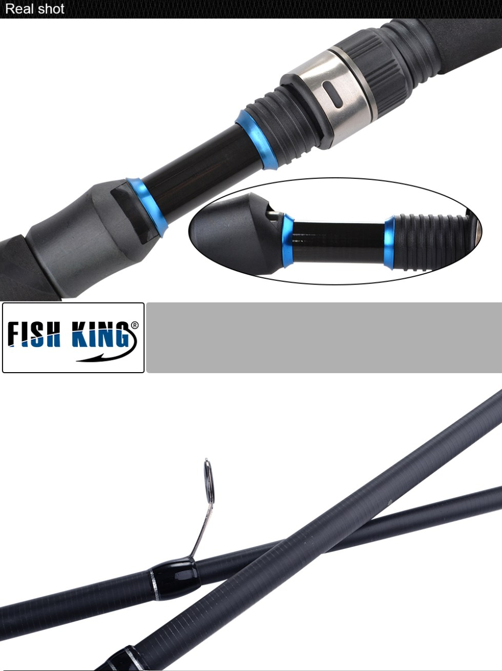FISH KING 24T 99% Carbon Carp Rod 2.1M/2.4M/2.7M Superhard High Quality Telescopic Fishing Rod Pesca 6