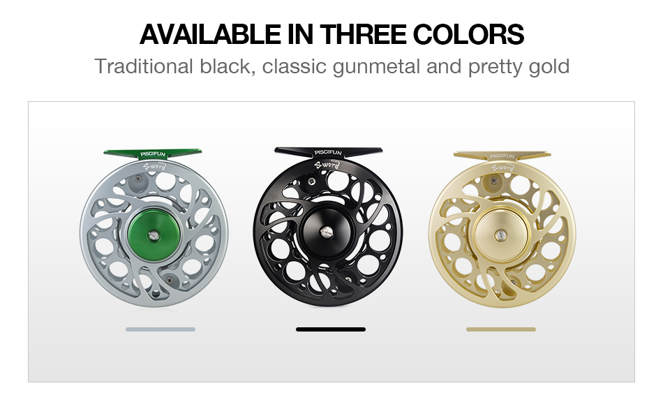 Piscifun Sword 3/4/5/6/7/8/9/10 WT Fly Reel With CNC-Machined Aluminium Material Right Left Handed Fly Fishing Reel Gunmetal 8