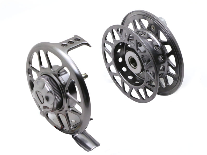 Angryfish Full Metal Fly Fishing Reel 2+1BB Aluminum Alloy Die Casting Fly Reel Fishing Reel with Large Arbor 11