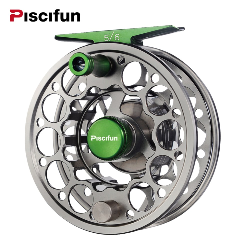 Piscifun Sword Fly Reel with CNC-machined Aluminium Material 3/4/5/6/7/8/9/10 WT Right Left Handed Fly Fishing Reel Gunmetal 4