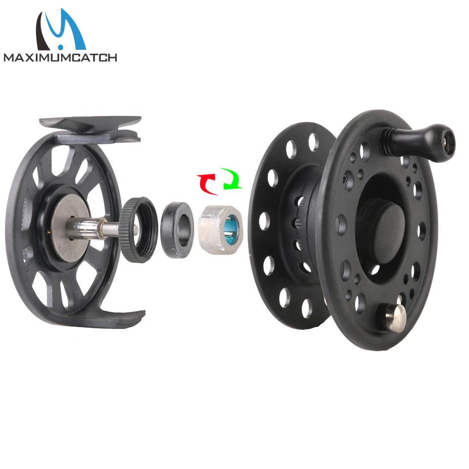 Maximumcatch 1-8WT Plastic Fly Fishing Reel Right Or Left Can Be Changed Plastic Fly Reel 3
