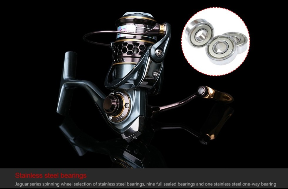TSURINOYA Jaguar Series 1000 2000 3000 Double Spool Stainless Steel Bearing Ultra-light Lure Spinning Reel Rocky Fishing Reel 16