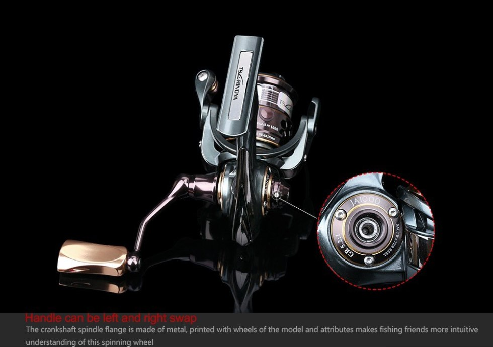 TSURINOYA Jaguar Series 1000 2000 3000 Double Spool Stainless Steel Bearing Ultra-light Lure Spinning Reel Rocky Fishing Reel 6
