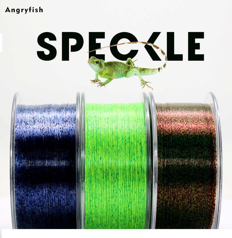 Angryfish Hot 300m Speckle Invisible Super Strong Monofilament Nylon Fishing Line 1