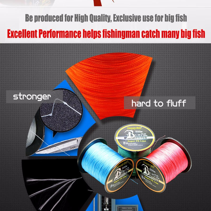 Angryfish Wholesale 500 Meters 8X Braided Fishing Line 11 Colors Super Strong PE Line 3