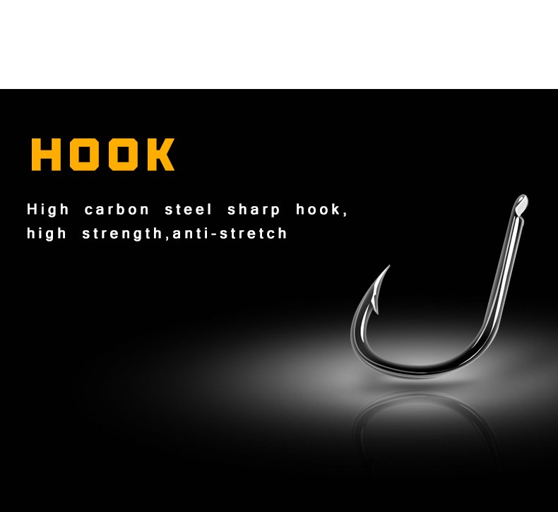 Angryfish Hot 1pack 6pcs Carp Fishing Hook Link Coated Hook Link Ready Tied HK-G006 3