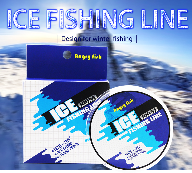 Angryfish Ice Fishing Line 100m Winter Fishing Nylon Line Monofilament Super Strong Nylon Line 1
