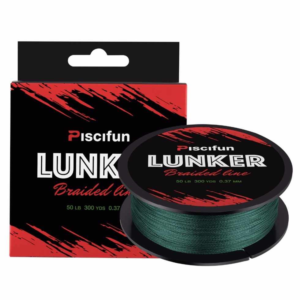 Piscifun Lunker 274M Fishing Line 0.06-0.5mm 4 Strands 6-80lb Strong Netherlands PE Fiber three colors Braided fishing Line 9