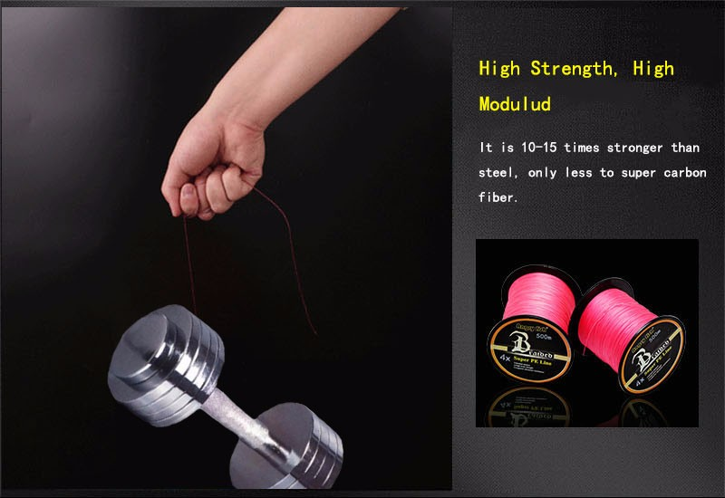 Angryfish Hot New 500m 4 Strands Braided Fishing Line 11 Colors Super PE Line Strong Strength 5