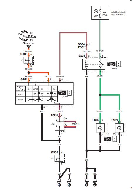 wiring diagram for fog light switch