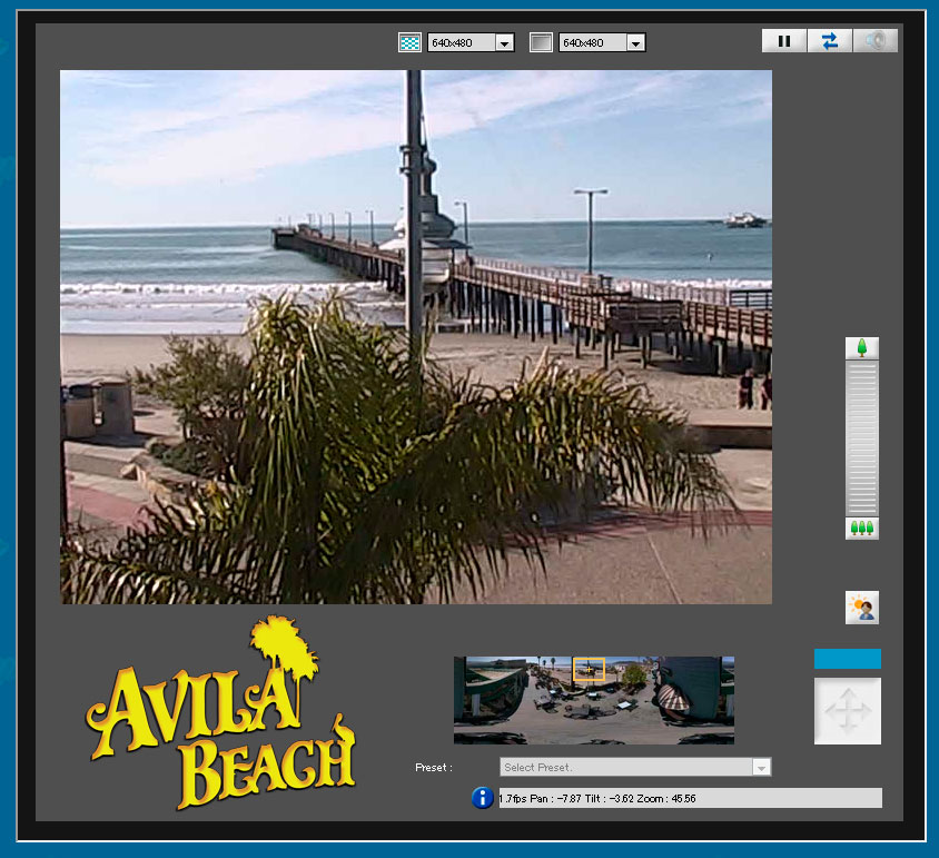 Control our 360 degree Avila Beach Cam on the Downtown Promenade